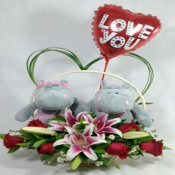 Pareja de Hipopotamos enamorados (HC-2)