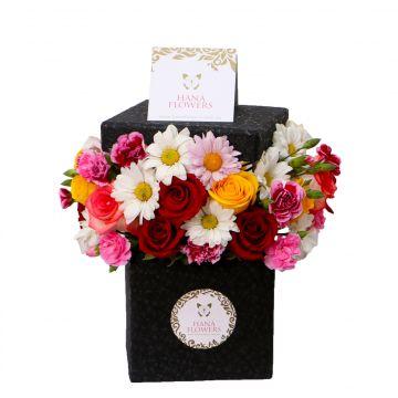 Box de flores y rosas variadas (BF-7)