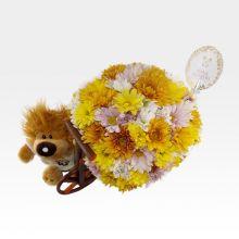 Arreglo Floral en carreta de madera (FO-7) - #1