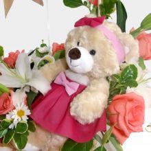Peluches de amor con Rosas y Lirios (FO-2) - #1