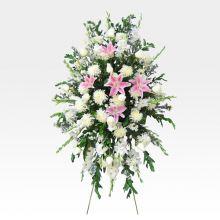 Corona de Rosas, Lirios y Gladiolos (DEF-4)