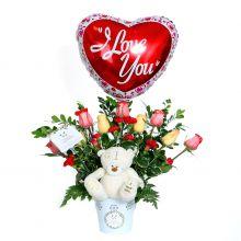 Oso con Rosas Variadas (OV-12)